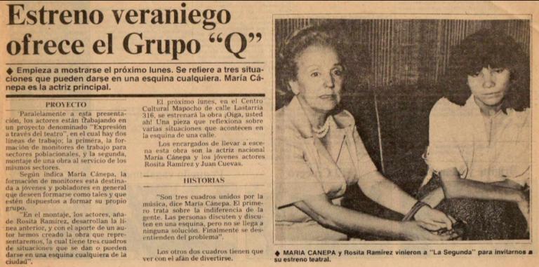 Rosa Ramirez -prensa